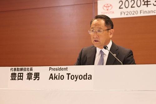 「SDGsに本気で取り組む」と宣言する豊田章男社長(写真提供:トヨタ自動車)