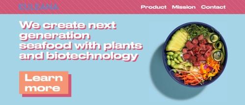 スクラムベンチャーズが進める「Food Tech Studio-Bites!」の採択企業の1社である米クレアナ(Kuleana)。代替生マグロを開発(画像/Kuleanaホームページ)