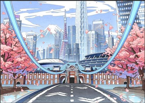 「パラリアルトーキョー」では、東京駅や東京スカイツリー、東京タワーなど主要なランドマークがリアルに再現された(画像提供/VR法人HIKKY)