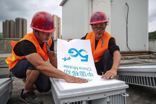 中国各地で5Gネットワークの配備が急ピッチで進む(写真:ロイター/アフロ)