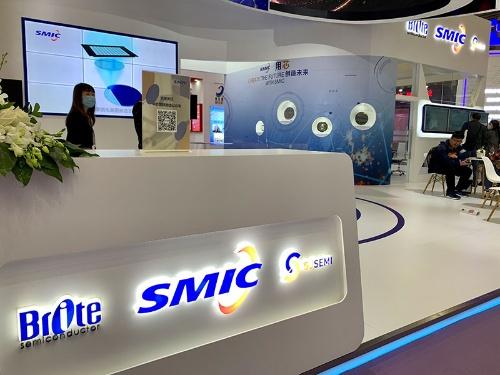 上海市で開催された「IC China 2020」のSMICブース