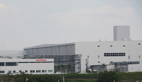 ホンダの寄居工場。21年には狭山工場からの生産移管を予定する