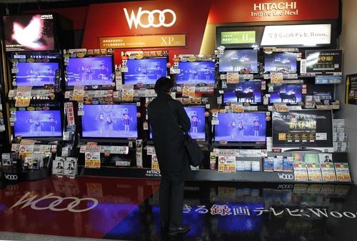 日立製作所はかつて「Wooo(ウー)」ブランドのテレビを手掛けていた(写真:ロイター/アフロ)