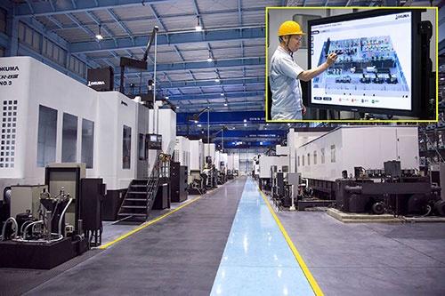 日立製作所はオークマの工場に入り込み、共同で生産性向上に取り組む