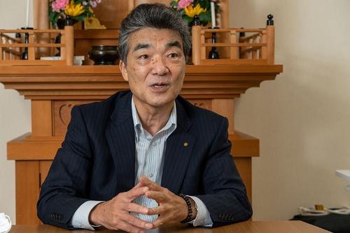 高松建設出身で会長を務める刀根健一氏(写真=大亀京助)