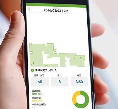 ルンバシリーズ向け「iRobot Home」の画面