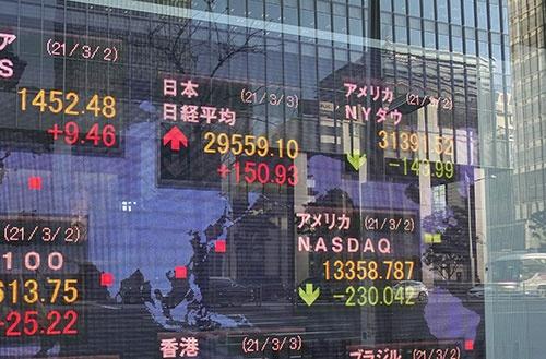 景気の先行きは不透明で、市場でも株高バブル説がくすぶる