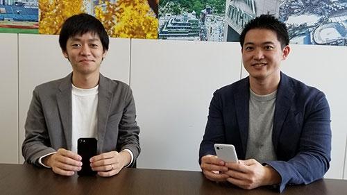井上大輔氏(左)と清水剛志氏は伊藤忠商事から出向し、Belongを経営している