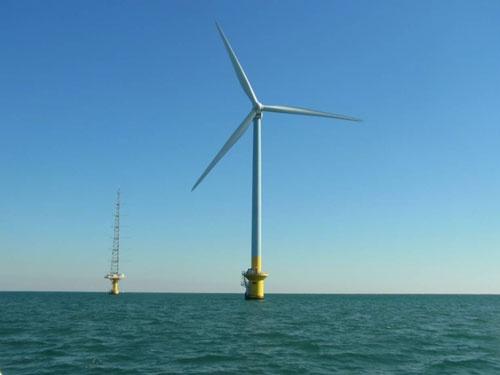 2019年に商業運転を始めた国内初の洋上風力発電所。東京電力リニューアブルパワーが千葉県銚子沖で運営している