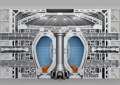 核融合炉の内部構造を示したイラスト