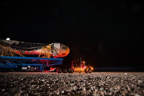 ブルーオリジンが開発する大型ロケット「ニューシェパード」(写真:Blue Origin)