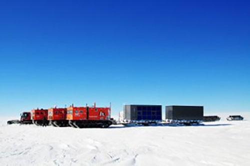 南極昭和基地で実証実験するミサワホームの基地ユニットイメージ