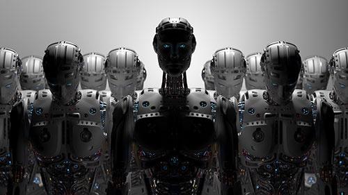 AIロボットは人類の敵か味方か(イラスト:Shutterstock)