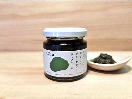 国産の茶の実油と茶葉を使用したグリーンティージェノベーゼ
