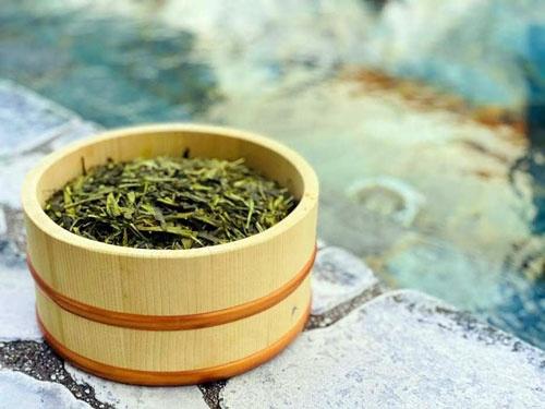 温浴施設とのコラボで使った日本茶