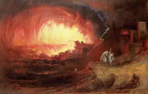 ジョン・マーティン『ソドムとゴモラ』The Destruction of Sodom and Gomorrah(1852) (提供:Bridgeman Images/アフロ)