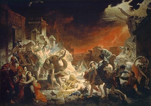 カール・パヴロヴィチ・ブリュロフ『ポンペイ最後の日』The Last Day of Pompeii(1833)(提供:Artothek/アフロ)