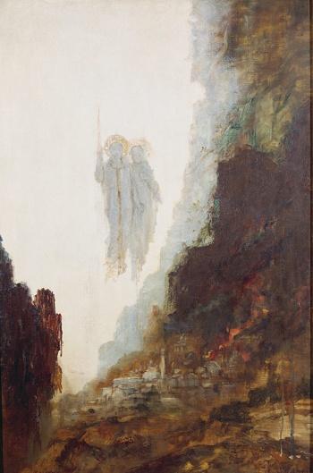 ギュスターヴ・モロー『ソドムの天使』The Angels of Sodom(1890)(提供:Artothek/アフロ)