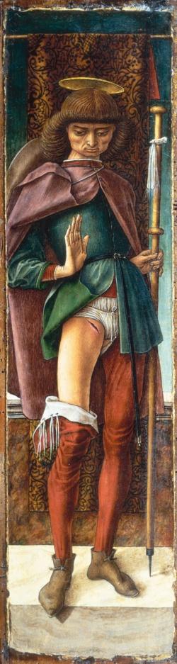 カルロ・クリヴェッリ『聖ロクス』St. Roch(1490)(写真:Bridgeman Images/アフロ)