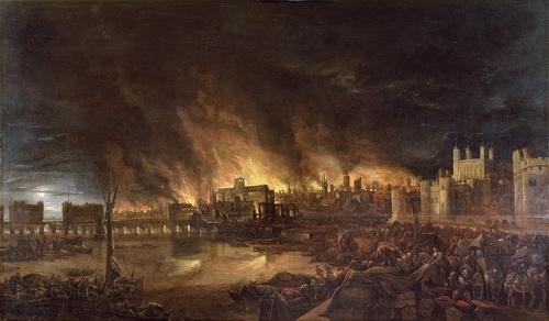 作者不詳『ロンドン大火』The Great Fire of London(1675)(提供:Bridgeman Images/アフロ)