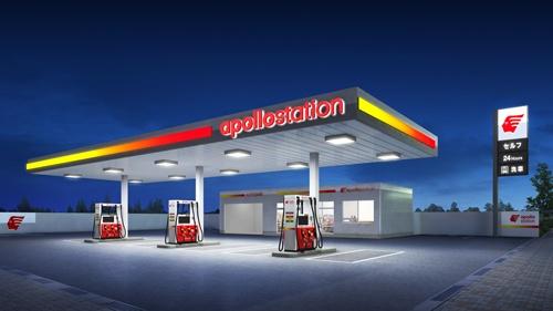 出光興産はで全国に6400カ所持つガソリンスタンドの看板を2023年までにアポロステーションへと切り替える