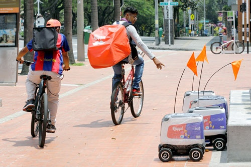 コロンビアを中心に料理の宅配などを手掛けるラッピ(Rappi)(写真:ロイター/アフロ)