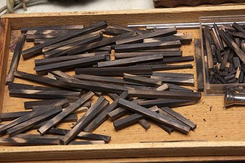 森田さんがたどり着いた木材は柿の木だった