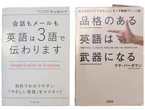 例文やフレーズ集を伝え方の参考にした2冊
