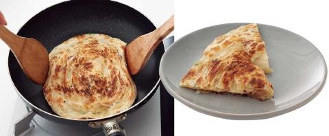 成澤氏の味評価/ゴマが香り、生地はサクサク。野菜や肉、卵を挟んでも合いそう