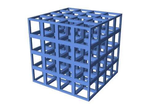 MOFはナノサイズのジャングルジムの構造(上)になっており、気体を整然と効率よく閉じ込めることができる(下)