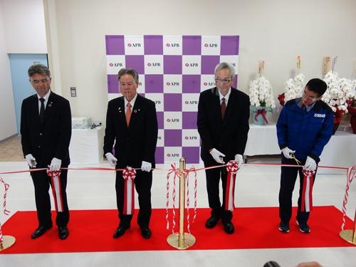 武生工場の開所式の様子(5月25日、福井県越前市)