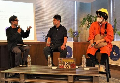 2021年6月29日の「東京ビエンナーレ2020/2021」に出展するARアートの共同開発に関する記者説明会より。イベント中のトークでは、主催者やアーティストらから5Gに対する高い期待の声を聞くことができた。写真は同イベントより(筆者撮影)