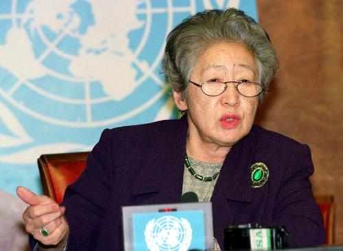 緒方貞子さんは国際的な政策形成の議論をリードできる日本人だった(写真:ロイター/アフロ)