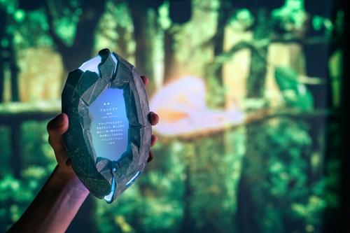 アカハナグマの記録に成功すると、生息地や生態が表示された