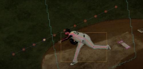 ホークアイのプレー分析サービスを使えば、投手のフォームチェックもリアルタイムでできる
