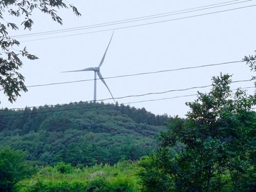 岩手県最北の軽米町にある風力発電所の電気は横浜市で利用されている