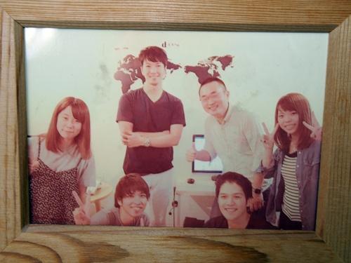 電脳交通創業期の写真。中央右側がCTO(最高技術責任者)の坂東勇気氏