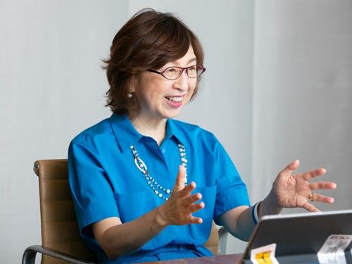 ディー・エヌ・エー(DeNA)会長の南場智子氏(写真=的野弘路)