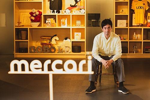 メルカリ代表取締役CEO(最高経営責任者)の山田進太郎氏(写真:的野弘路)