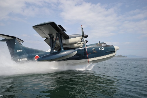 US-2は海上自衛隊向けの救難飛行艇