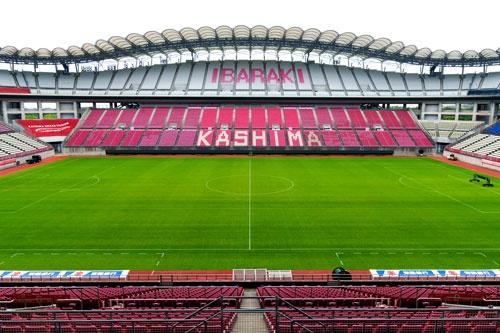 鹿島アントラーズがホームスタジアムとして使用する「カシマサッカースタジアム」(写真=的野 弘路)