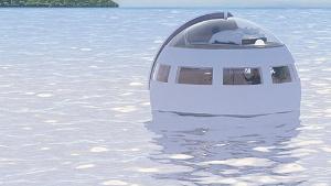 開発中の水上移動式ホテル。無人島への移動で利用