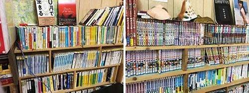 本やマンガの多くは共生舎の住人の間でシェアしている。