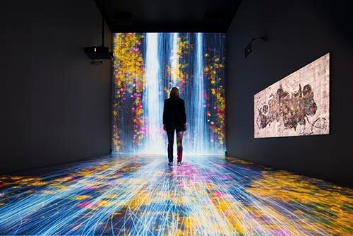 ロンドンのペースギャラリーで開催中の「teamLab: Transcending Boundaries」(写真:永川 智子、以下同)