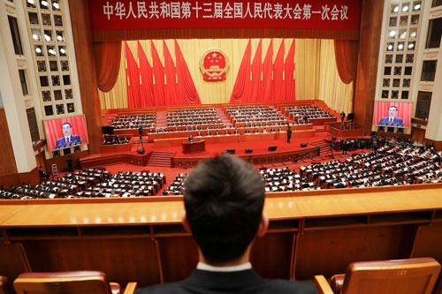 3月5日に開幕した全人代では、中国の将来を大きく作用する憲法改正が採択される見通しだ(写真=ロイター/アフロ)