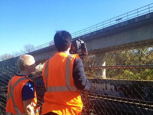 ワシントンDCのメトロの地上橋梁部分(写真:ネクスコ・ウエスト USA提供)