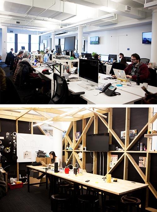 オフィスは開放的でスタートアップの雰囲気