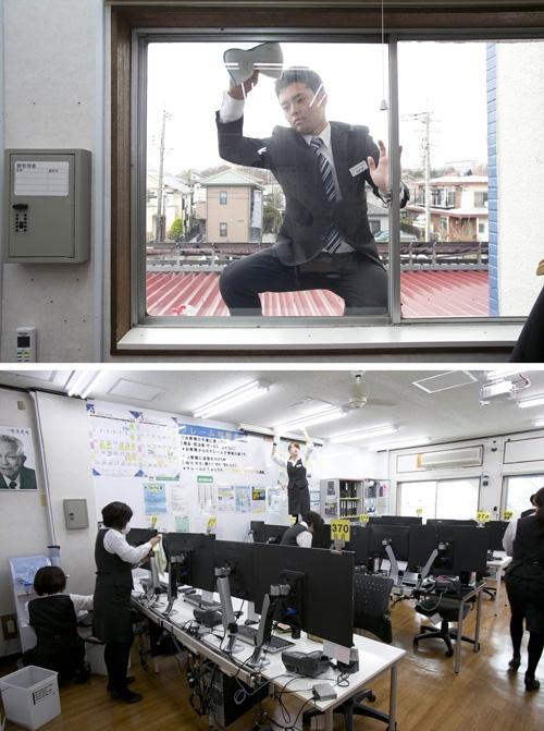 毎朝30分、就業時間内に全従業員が、環境整備に取り組む。特に社長のチェックが入る日は、窓ふきや天井の掃除まで入念に行われる(写真:的野弘路)