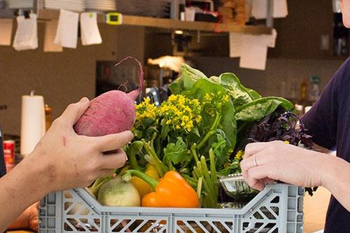 独自の需要予測に基づいて自社で食材を仕入れておく。料理人から注文が入ると、SENDの物流センターで食材を集めて、そこから直接料理人に届ける
