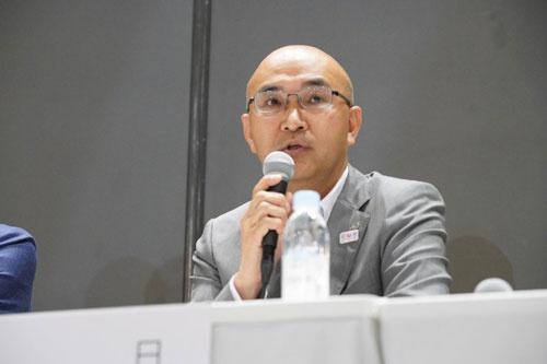 日本航空執行役員人財本部長 小田卓也氏(写真/稲垣純也、以下同)